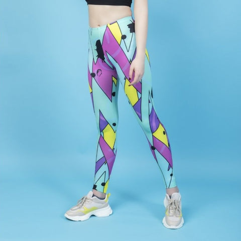 Neon jazz - Kukubird_uk Leggings, Tights