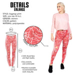 Regular Leggings (8-12 UK Size) - Roses with love stripe - Kukubird_uk Leggings, Tights