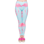 Flamingo Dots - Kukubird_uk Leggings, Tights