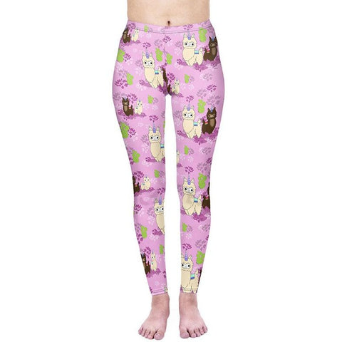 Regular Leggings (8-12 UK Size) - Llamacorn - Kukubird_uk Leggings, Tights