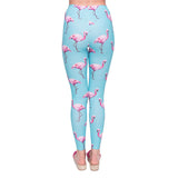 Cyan Flamingos - Kukubird_uk Leggings, Tights