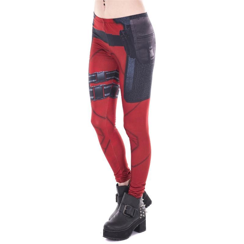 Red Hero Leggings-Kukubird_uk