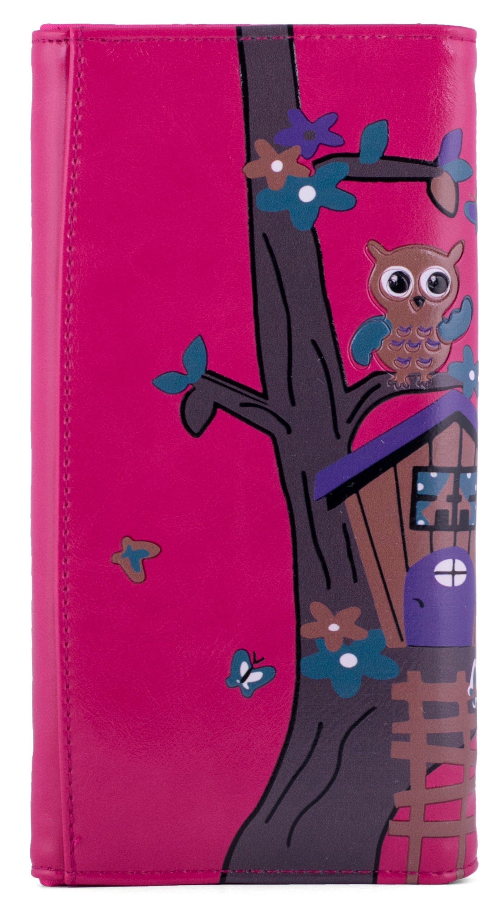 Kukubird Large Purse Owl's in Tree - Fuchsia