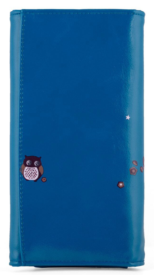 Kukubird Large Purse 2 owl's love - Blue
