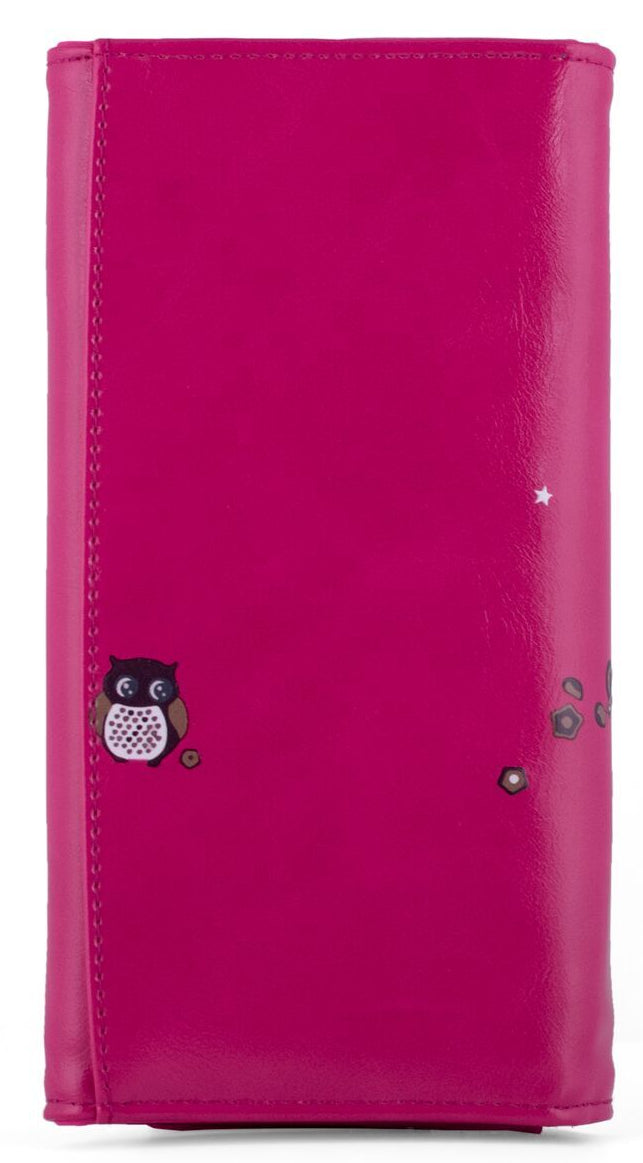Kukubird Large Purse 2 owl's love - Fuchsia