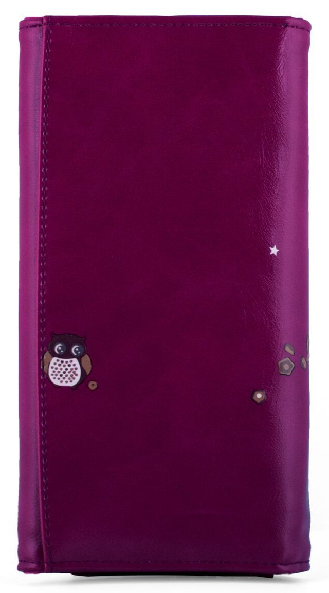 Kukubird Large Purse 2 owl's love - Purple