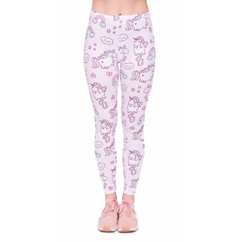 Regular Leggings (8-12 UK Size) - Unicorns World - Kukubird_uk Leggings, Tights
