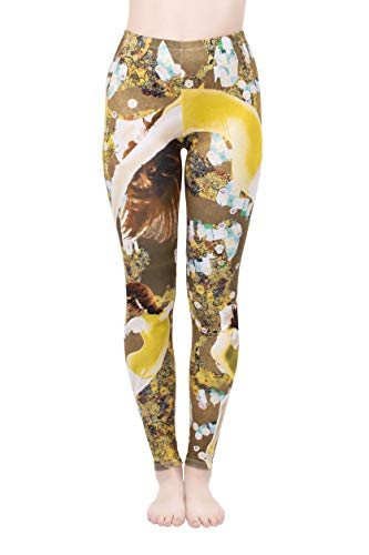 Regular Leggings (8-12 UK Size) - Dance Yellow - Kukubird_UK