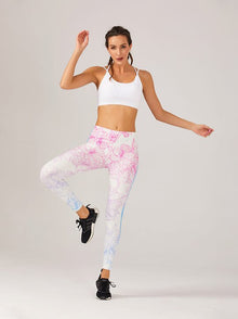Regular Leggings (8-12 UK Size) - Pastel Flower - Kukubird_UK