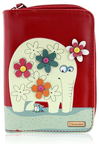 Kukubird Medium Purse Elephant And Mouse Purse - Red - Kukubird_uk Leggings, Tights