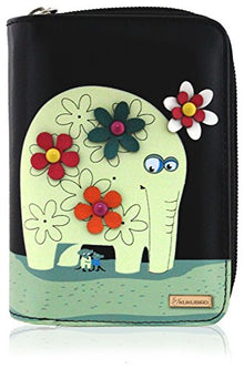 Kukubird Medium Purse Elephant And Mouse Purse - Black - Kukubird_UK