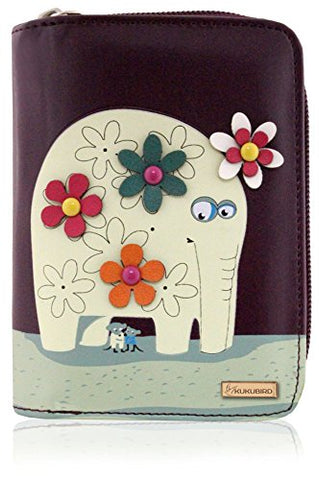 Kukubird Medium Purse Elephant And Mouse Purse - Purple - Kukubird_uk Leggings, Tights
