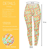 Regular Leggings (8-12 UK Size) - Yellow Daises - Kukubird_UK