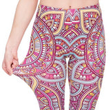 Mandala Yellow - Kukubird_uk Leggings, Tights