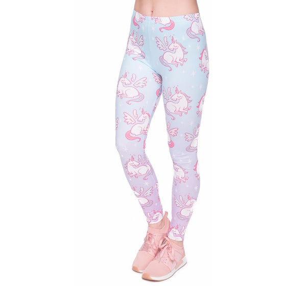 Regular Leggings (8-12 UK Size) - Unicorns Wings - Kukubird_UK