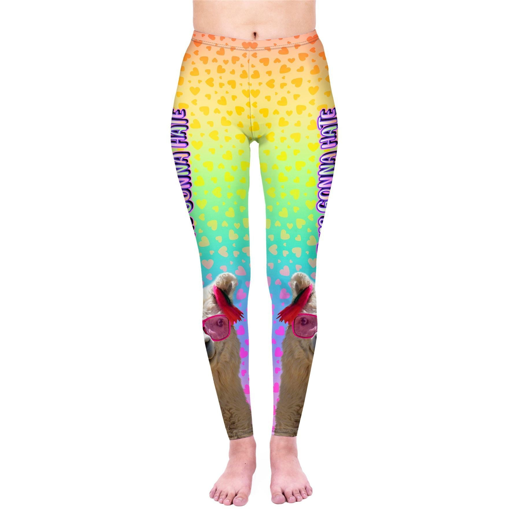 Llama Haters Leggings-Kukubird_uk