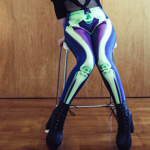 Cyan Bone - Kukubird_uk Leggings, Tights