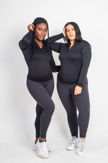 The Dark Grey Basic's High Waist Leggings - Kukubird_UK