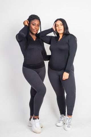 The Dark Grey Basic's High Waist Leggings - Kukubird_uk Leggings, Tights