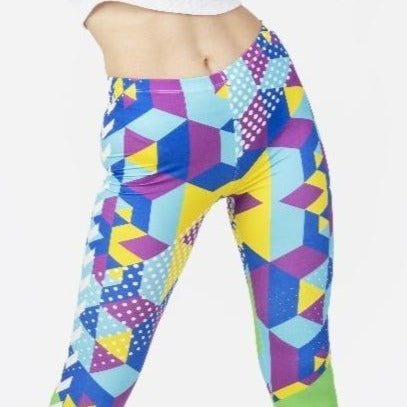 Geo Cubic - Kukubird_uk Leggings, Tights