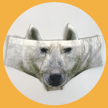 Ear Pantie - Polar Bear (6-10 UK Size) - Kukubird_UK