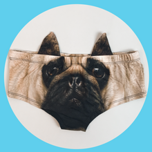 Ear Pantie - Pug (6-10 UK Size) - Kukubird_UK