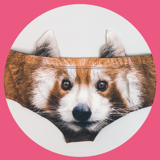 Ear Pantie - Red Panda (6-10 UK Size) - Kukubird_UK