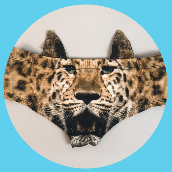 Ear Pantie - Leopard (6-10 UK Size) - Kukubird_UK