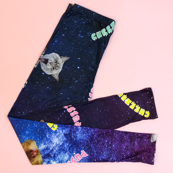 Regular Leggings (8-12 UK Size) - Cheezburger Kitty