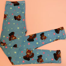Regular Leggings (8-12 UK Size) - Red Pandacorn - Kukubird_UK
