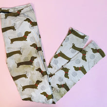 Regular Leggings (8-12 UK Size) - Coffee Dachshund