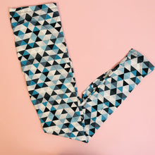 Regular Leggings (8-12 UK Size) - Mint Triangles - Kukubird_UK