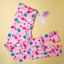 Tropical Pink Flamingo Regular Legging 8-12 - Kukubird_UK