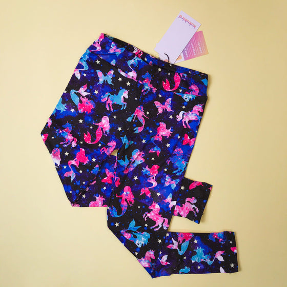 Children's Leggings - Fantasy Galaxy - Kukubird_UK
