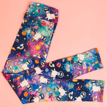 High Waist Legging  (10-14 UK Size) - GALAXY LLAMA