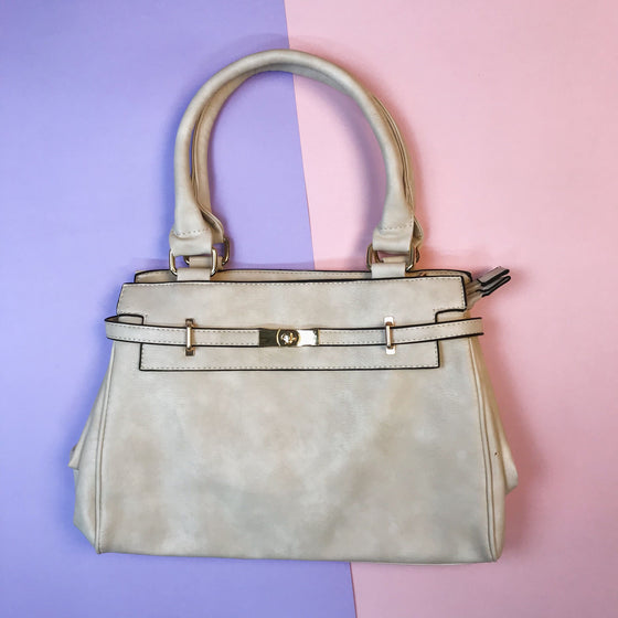 Classic Lock Bag - Beige - Kukubird_UK
