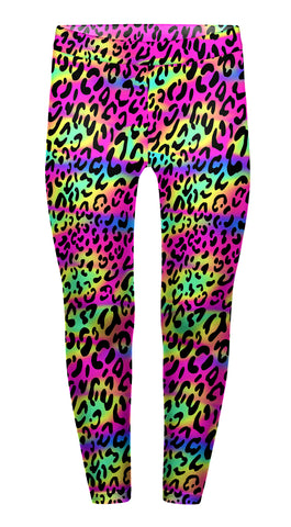 Colourful Leopard Children's Leggings - Kukubird_uk Leggings, Tights