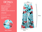 Blue Heart Doodles - Kukubird_uk Leggings, Tights