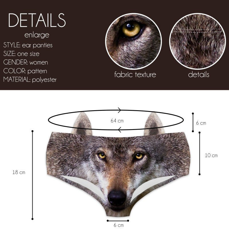 Dark Wolf Ear Pantie - Kukubird_uk