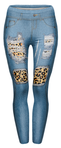 Leopard Jeans 8-12 - Kukubird_uk Leggings, Tights