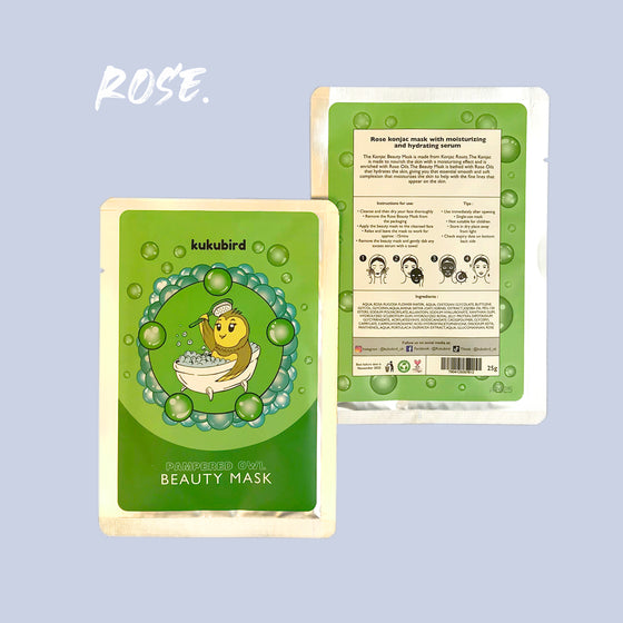 Beauty Konjac Mask - Pampered Owl (Rose)