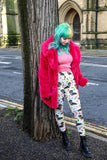 Floral Dachshunds with Scarves - Kukubird_uk Leggings, Tights