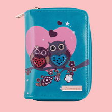 Kukubird Medium Purse 2 owl's love - Blue