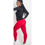 The Red Basic's High Waist Leggings - Kukubird_UK