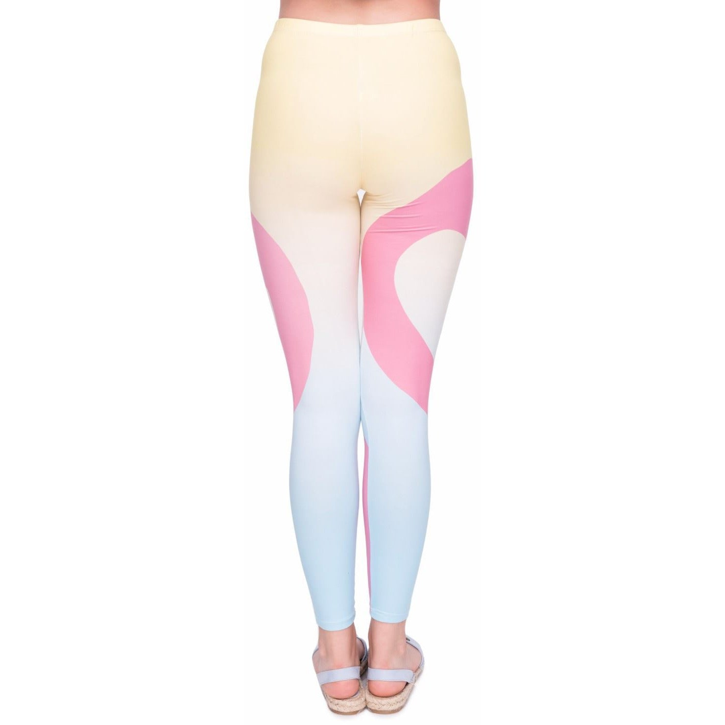 Two Flamingos Leggings-Kukubird_uk