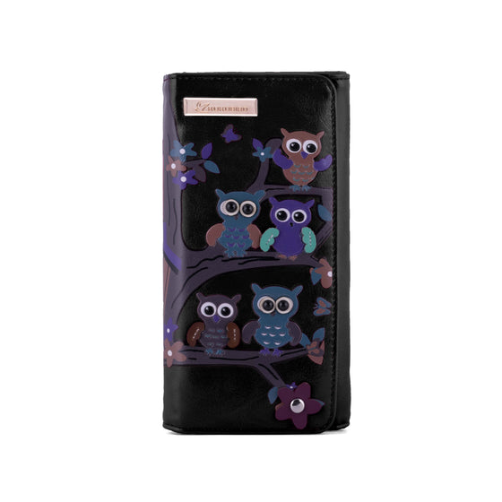 Kukubird Large Purse Owl's in Tree - Black - Kukubird_UK