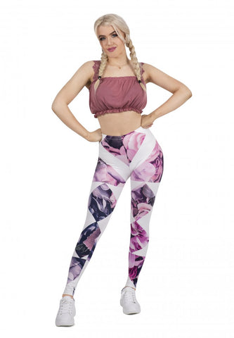 Diamond Floral - Kukubird_uk Leggings, Tights