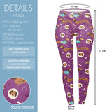 Regular Leggings (8-12 UK Size) - Purple Dachshunds - Kukubird_UK