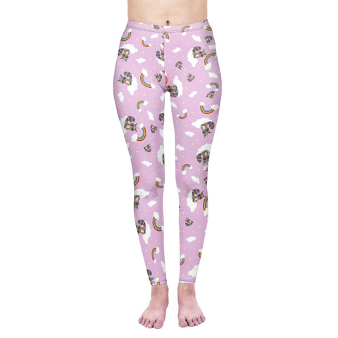 Regular Leggings (8-12 UK Size) - Raccoonicorn - Kukubird_UK