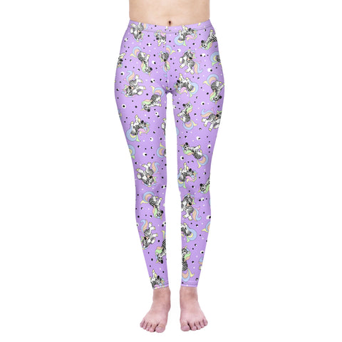 Regular Leggings (8-12 UK Size) - Zebracorn - Kukubird_uk Leggings, Tights